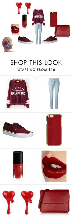 """""""Untitled #12"""" by allisonshaylyn ❤ liked on Polyvore featuring Frame Denim, Vans, Lancôme, Charlotte Tilbury and Marni"""