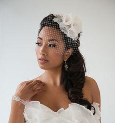 Wedding Head Piece Bridal Hair Accessory by PowderBlueBijoux, $89.00