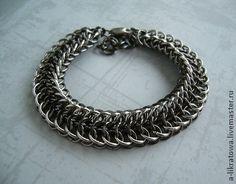 """Браслет """"Левиафан"""" - кольчужное плетение,кольчужные украшения,металлический браслет"""