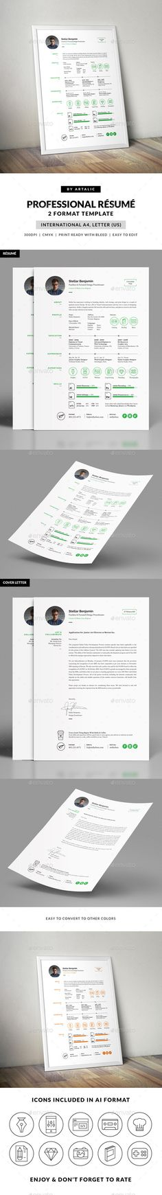 Buy Stellar Resume CV by Artalic on GraphicRiver. This stellar résumé template is created for individuals looking to present their expertises and promote themselves in. Presentation Design Template, Resume Design Template, Creative Resume Templates, Cv Template, Cv Design, Graphic Design, Cv Web, Cv Examples, Cover Letter For Resume
