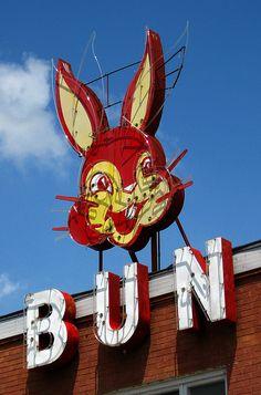 Bun! Bun! Bun! This ones for YOU!!!  Bunny Bread sign in Anna, Illinois