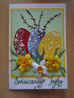 J Craft, Art Impressions, Paper Quilling, Creative Cards, Hobbies And Crafts, Easter Crafts, Quilt Patterns, Card Making, Greeting Cards