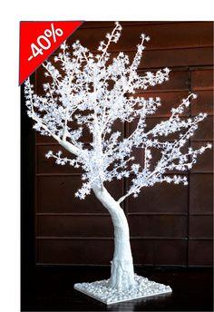 Arbol led Mod. Wedding Winter en medida de 2.5 metros iluminado con 1300 leds ideal para la decoracion de bodas. ACABA CON LO ORDINARIO !!