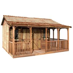 Shop Cedarshed Farmhouse Gable Cedar Wood Storage Shed (Common: 20-ft x 14-ft; Interior Dimensions: 15.5-ft x 9.5-ft) at Lowes.com