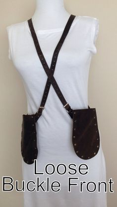 Distressed Leather Harness Holster Belt Necklace by NorthandHudson