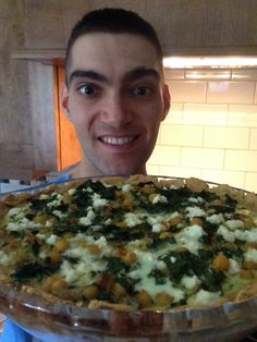 Chickpea quiche with a chick pea flour crust!