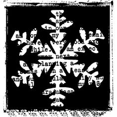 Snowflake Print Wood Mounted Stamp by Christine Adolph