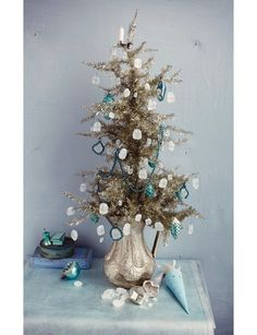 Sweet Paul's Stunning Christmas Tree in Shades of Blue!