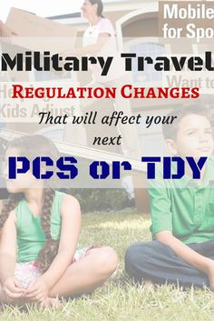 Military Travel Regulation Changes that will affect your next PCS or TDY... Important for #MilFams!