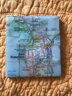 Scrabble tile map coasters  personalized