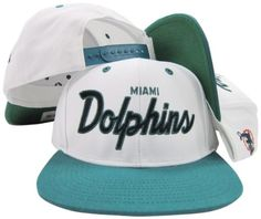 62c5a92de9f Miami Dolphins White Teal Script Two Tone Adjustable Snapback Hat   Cap  Reebok http