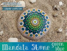 You liked my first Mandala Stone Tutorial so much, that I decided to do another one. This time with a green and blue mandala pattern. I used the same paints and brushes again. If you want more in depth information on the right colors, brushes and techniques, you can read about that in my purple mandala stone tutorial Recommended materials: acrylic paints* or plaka paints* synthetic brushes* alternative tools: nail art brushes and dotting tools* Use a round, flattened stone with a smooth…