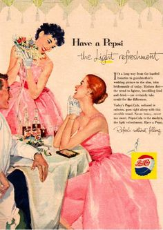 ●100F 1950年代のレトロ広告 ペプシコーラ PEPSI_画像1