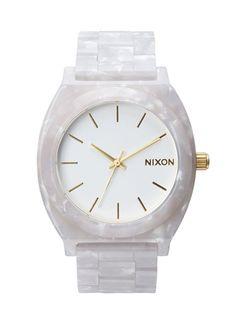 ニクソン NIXON 腕時計 TIME TELLER ACETATE WHITE GRANITE/GOLD メンズ or レディース