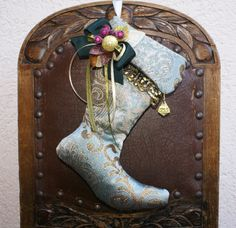 Black friday sale stocking victorian style ooak for Elegant christmas decorations for sale