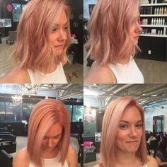 Give me give me rose gold hurrr #rosegoldhair #iwantiwant #needachangesobad