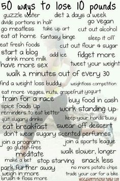 50 Ways To Loose 10 Pounds!