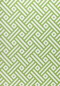 Parterre Outdoor Fabric A statement fabric with a geometric design shown in kiwi and off-white. Named after the ornamental arrangement of flower beds.