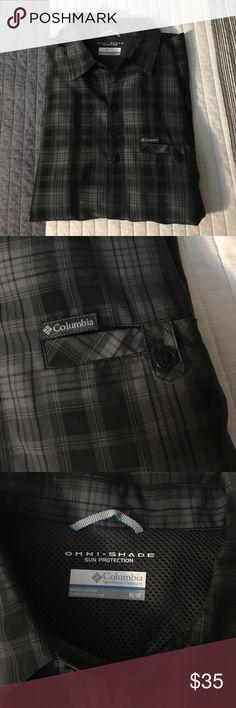 Black plaid Columbia button down Never worn Columbia button down. Very light weight, good for all seasons. Columbia Shirts Casual Button Down Shirts