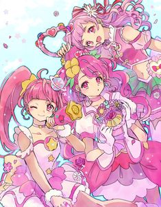 I Love Anime, Me Me Me Anime, Smile Pretty Cure, Alphabet Wallpaper, Anime Girl Drawings, Glitter Force, Magical Girl, Sailor Moon, All The Colors