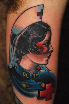 Nurse Tattoo by Seth Wood at Saved Tattoo in Brooklyn, New York