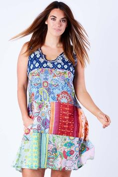 Lula Soul Lila Patch Dress - Womens Knee Length Dresses - Birdsnest Online Fashion Store