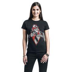 """Maglietta donna a maniche corte nera """"Diamond"""" di #HarleyQuinn."""