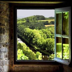 SEASONAL – SUMMER – a time for vacationing to all corners of this amazing world we live in, including a trip to see the castle view in france, photo via classy. Looking Out The Window, Through The Looking Glass, Window View, Open Window, Ventana Windows, Tres Jolie Photo, France Photos, Through The Window, Windows And Doors