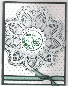 Doily For You (bb) by triasimite - Cards and Paper Crafts at Splitcoaststampers