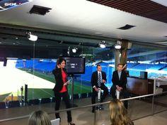 "Presentation to the media of our coverage of ""El Clásico"", Barça-Real Madrid, in Madrid (Santiago Bernabéu)"