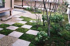 Japanese style moss garden