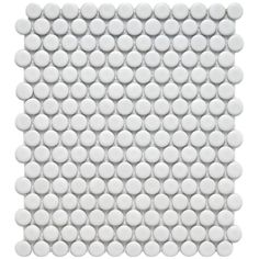 Merola Tile Metro Penny Matte White 9-3/4 in. x 11-1/2 in. x 6 mm Porcelain Mosaic Tile (8 sq. ft. / case)-FDXMPMW - The Home Depot