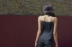 Contrast Straps Apron Dress
