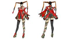 concept art of Rin Rin from Madworld Platinum Games, Soul Calibur, Video Game Art, Video Games, Bayonetta, Gears Of War, Metal Gear Solid, Bioshock, Dark Souls