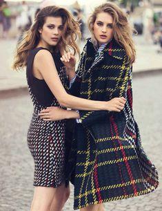 Smile: Sanne Vloet, Larissa Hofmann & Melina Gesto in Vogue Spain September 2015 by David Bellemere