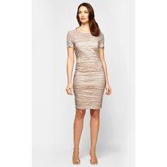 Alex Evenings Lace Illusion Yoke Sheath Dress