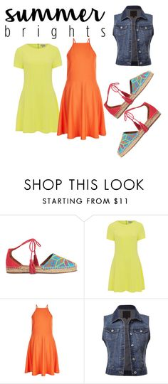 """""""brights"""" by colonkairee on Polyvore featuring Aquazzura, Whistle & Wolf, New Look and summerbrights"""