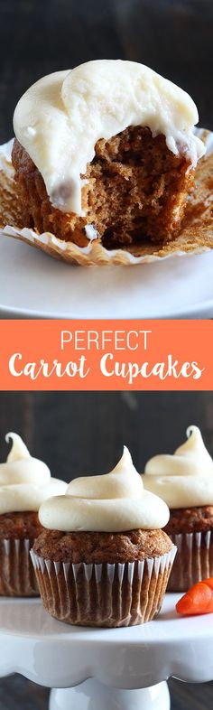 How to Make Perfect Carrot cupcakes that are so flavorful, moist, and delightful that even carrot cake haters will love them! Keep reading for the step-by-step video, recipe tips, and full printable recipe! | Dessert Recipes