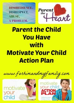 Parent the Child You Have using the Motivate Your Child Action Plan and Motivate Your Child book.    If you struggle with children who are disobedient, angry, or confrontational you may want to change your parenting style to fit their needs.  These books will help you!  #heartparenting