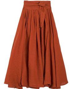 Black Crane Brick Wrap Skirt