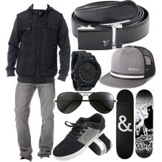 """The Black Belt - Gray"" by kristinmadsen on Polyvore"