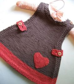 Hand knit baby doll clothes - boys