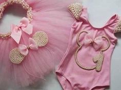 Minnie Mouse Birthday Decorations, Minnie Mouse Theme Party, Minnie Mouse First Birthday, Baby 1st Birthday, Baby Gown, Baby Tutu Dresses, Tutu Outfits, Baby Party, Pageants