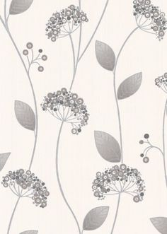 gray and white wallpaper.  for powder room?