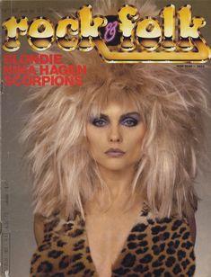 """voodoolounge: """" Debbie Harry, Rock and Folk Cover August """" Blondie Debbie Harry, Blondie Albums, Jeremy Gelbwaks, Harry Rocks, Chris Stein, Thing 1, Vintage Makeup, Rockn Roll, Blondies"""