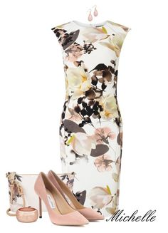 Wild Flowers by michellesherrill on Polyvore featuring Phase Eight, Jimmy Choo and Calvin Klein