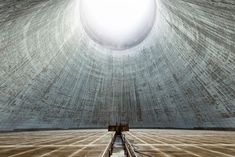 abandoned cooling towers by reginald van de velde 2 The Insides of these Abandoned Cooling Towers Look Straight Out of a Sci Fi Film