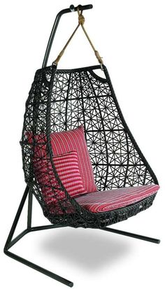 Outdoor Furniture Swing Chair by Patricia Urquiola for… -- outdoor Article ideas for Best Of Modern Design Patricia Urquiola, Hanging Swing Chair, Swinging Chair, Hanging Chairs, Swing Chairs, Swing Seat, Outdoor Wicker Furniture, Garden Furniture, Chair Design