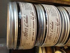 """Organic cocoa & cinnamon body polish. We call it """"hot chocolate"""". Yum! Limited time only!"""