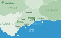 Kaart van de provincie Malaga (c) newimage.es